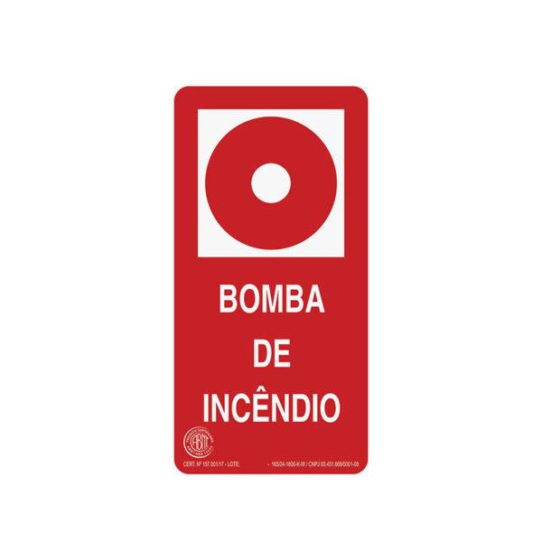 Sinalização Bomba de Incêndio