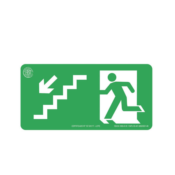 Sinalização Escada Desce Esquerda