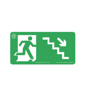 Sinalização Escada Desce Direita