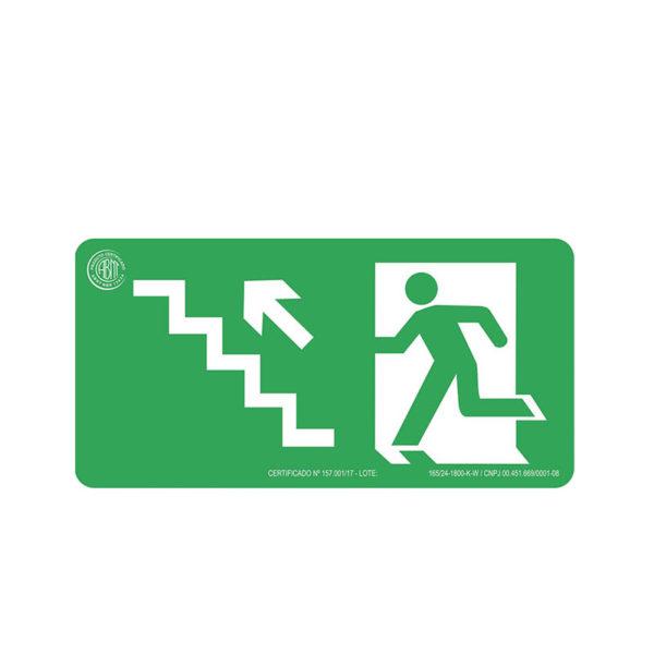 Sinalização Escada Sobe Esquerda
