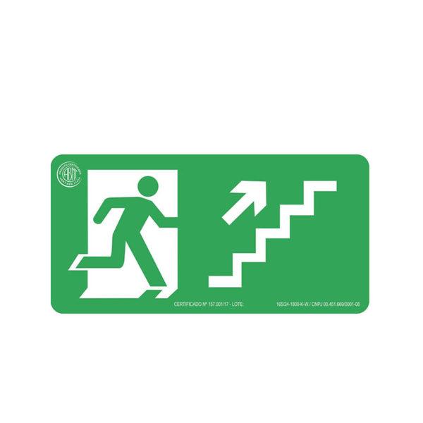 Sinalização Escada Sobe Direita
