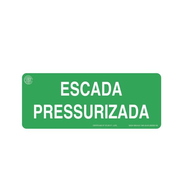 Sinalização Escada Pressurizada