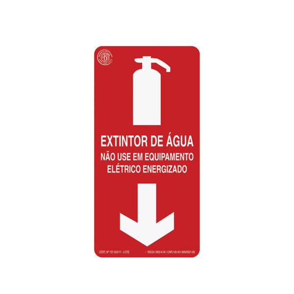 Sinalização Extintor de Água
