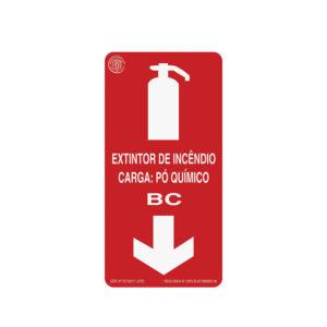 Sinalização Extintor Pó BC