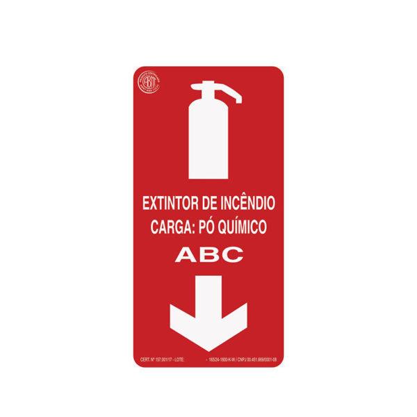 Sinalização Extintor Pó ABC