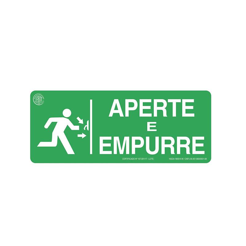 """Featured image for """"Sinalização Aperte E Empurre"""""""